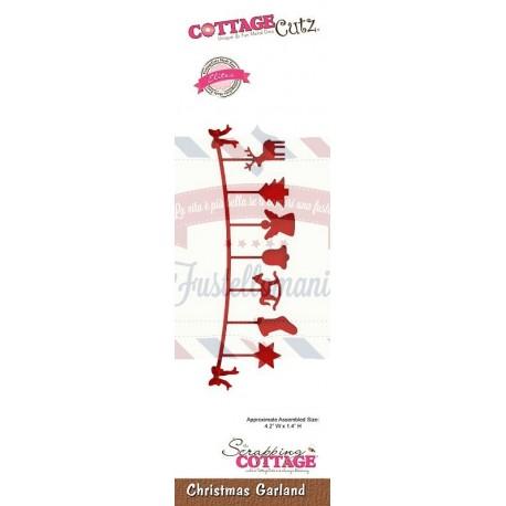 Fustella metallica Cottage Cutz Christmas Garland