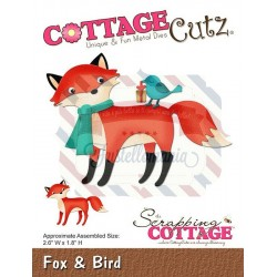 Fustella metallica Cottage Cutz Fox & Bird