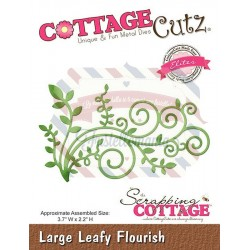 Fustella metallica Cottage Cutz Large Leafy Flourish