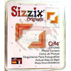 Fustella Sizzix Originals Green Photo corners