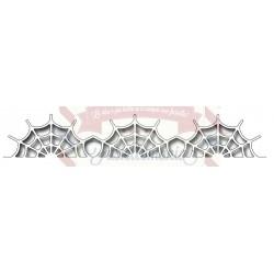 Fustella metallica Spiderweb border