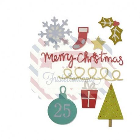 Fustella Sizzix Thinlits die set 10pk christmas