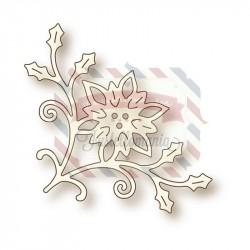 Fustella metallica Poinsettia Corner