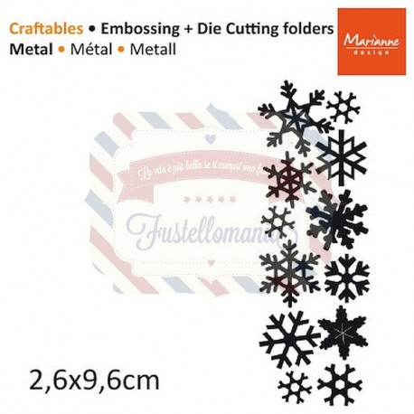 Fustella metallica Marianne Design Craftables Punch die Snowflakes