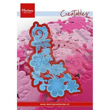 Fustella metallica Marianne Design Creatables Flower Corner