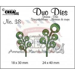 Fustella metallica Crealies Duo dies Leaves 6