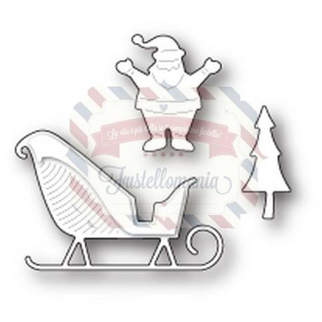 Fustella metallica Memory Box Santa's Happy Sleigh