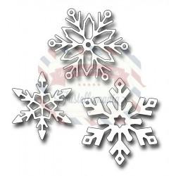 Fustella metallica Snowflake Trio