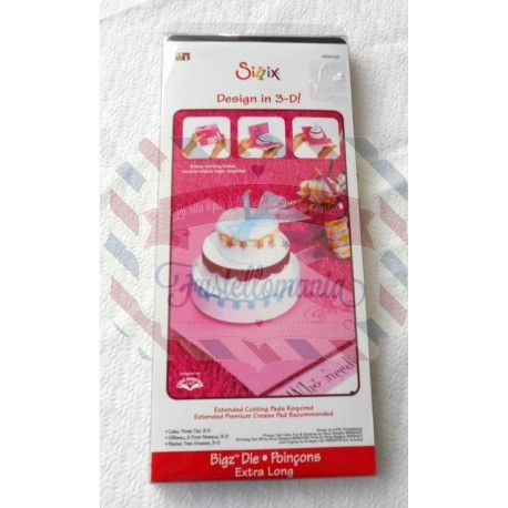 Fustella Sizzix BIGz XL Cake tre piani 3-D