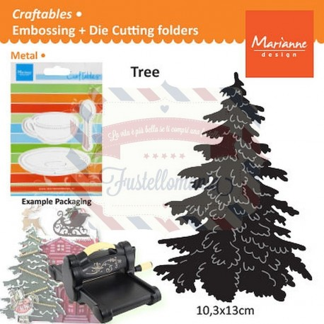 Fustella metallica Marianne Design Craftables Christmas Tree