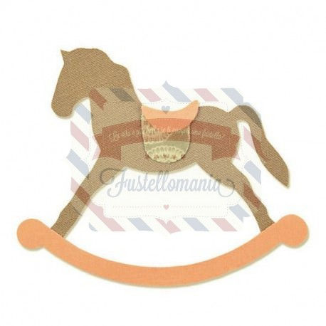 Cavaluccio A Dondolo.Fustella Sizzix Bigz Cavallo A Dondolo