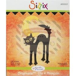Fustella Sizzix Originals Gatto e Luna