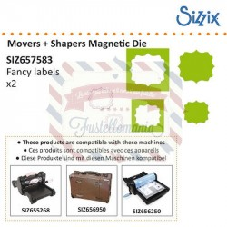 Fustella Sizzix Movers & Shapers Fancy Labels Set