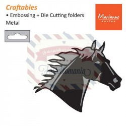 Fustella metallica Marianne Design Craftables Horse Head