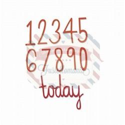 Fustella Sizzix Thinlits Numeri di compleanno