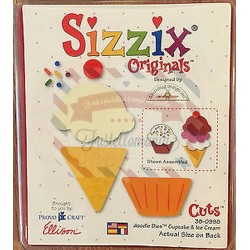 Fustella Sizzix Originals Cupcake and Ice Dream