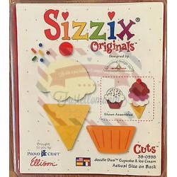 Fustella Sizzix Originals Cupcake and Ice Dream