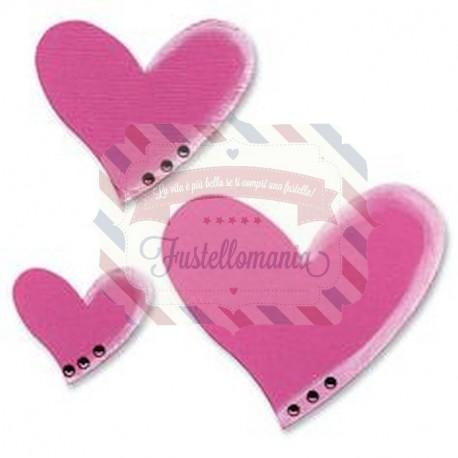 Fustella Sizzix Bigz Hearts Cuori