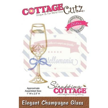 Fustella metallica Cottage Cutz Elegant Champagne Glass