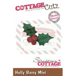 Fustella metallica Cottage Cutz Holly Berry Mini