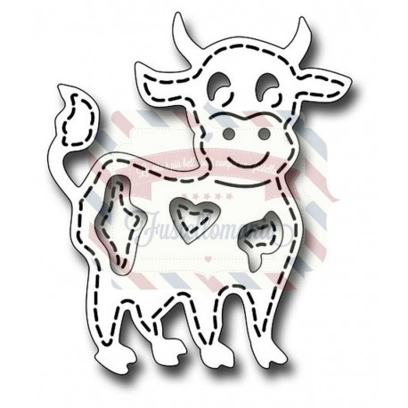 Fustella metallica Stitched Cow