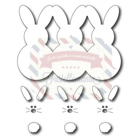 Fustella metallica Marshmallow Bunnies