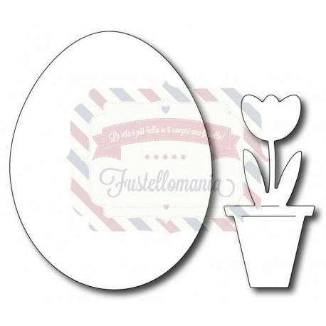 Fustella metallica Solid Egg (with bonus Potted Tulip)