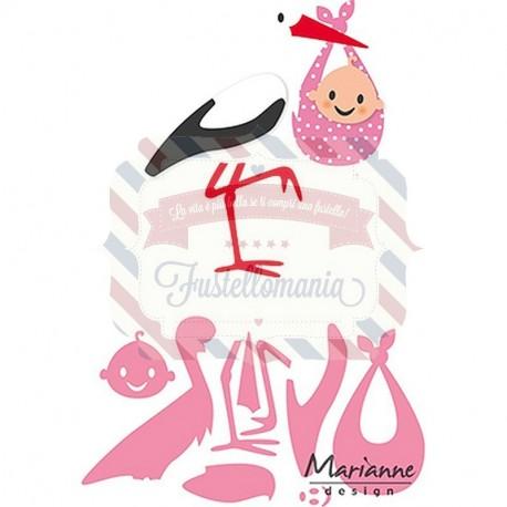 Fustella metallica Marianne Design Collectables Eline's Stork