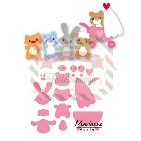 Fustella metallica Marianne Design Collectables Eline's Baby Animals