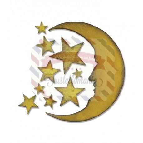 Fustella Sizzix Bigz Crescent Moon & Stars