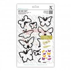 Fustella metallica Xcut A5 Butterflies