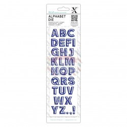 Fustella metallica Xcut Bevelled Alphabet