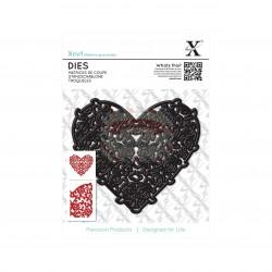 Fustella metallica Xcut Floral Filigree Heart