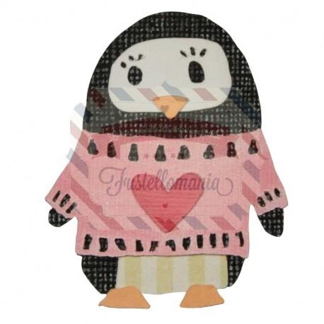 Fustella Sizzix Thinlits Pinguino dell'amicizia