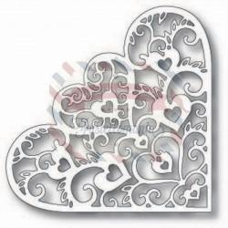Fustella metallica Tutti Designs Heart of Hearts Corner