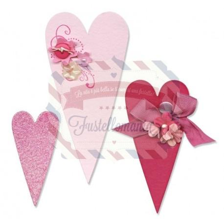 Fustella Sizzix Bigz Primitive Hearts