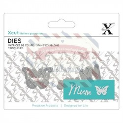 Fustella metallica Xcut Mini sentiment Mum