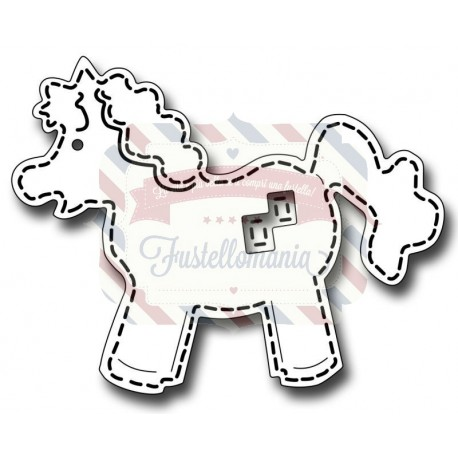 Fustella metallica Stitched Horse