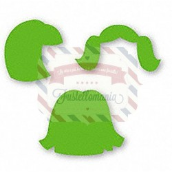 Fustella Sizzix Originals Green Bitty Girl Hair 1