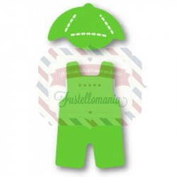Fustella Sizzix Originals Green Bitty Overalls