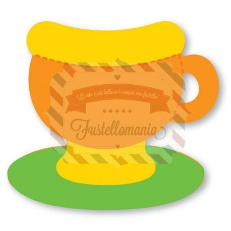Fustella Sizzix Originals Green Teacup