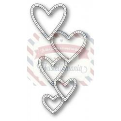 Fustella metallica Memory Box Classic Stitched Heart Rings