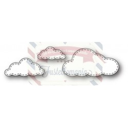 Fustella metallica Memory Box Stitched Cloud Trio