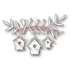 Fustella metallica Memory Box Birdhouse Trio