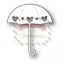 Fustella metallica PoppyStamps Heart Showers Umbrella