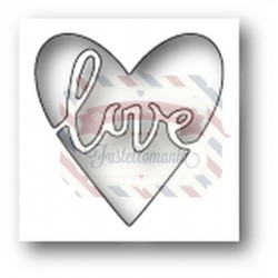 Fustella metallica PoppyStamps Scribble Love Heart