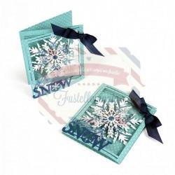 Fustella Sizzix Thinlits Tri Fold Card Snowflake