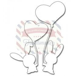 Fustella metallica Penny Black Bunny Love