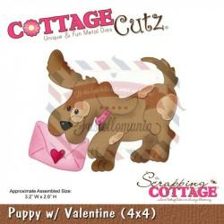 Fustella metallica Cottage Cutz Puppy W Valentine