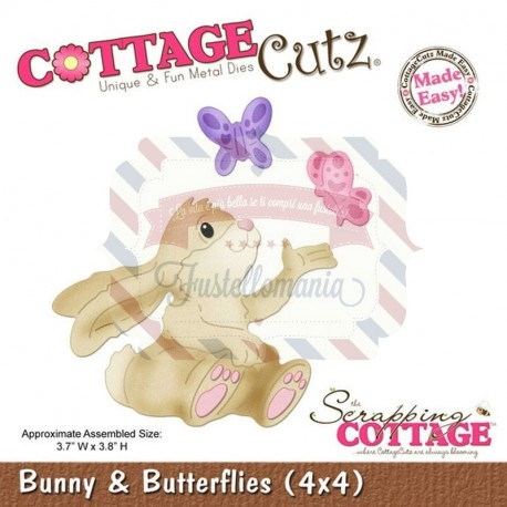 Fustella metallica Cottage Cutz Bunny & Butterflies